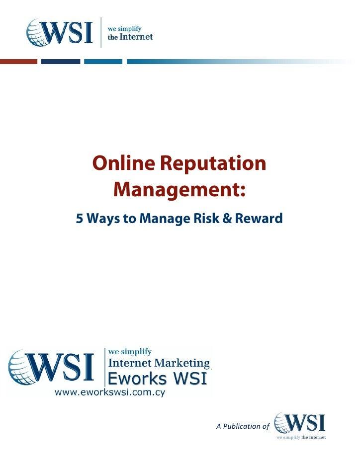 Eworks WSI Cyprus: Online reputation Mangement