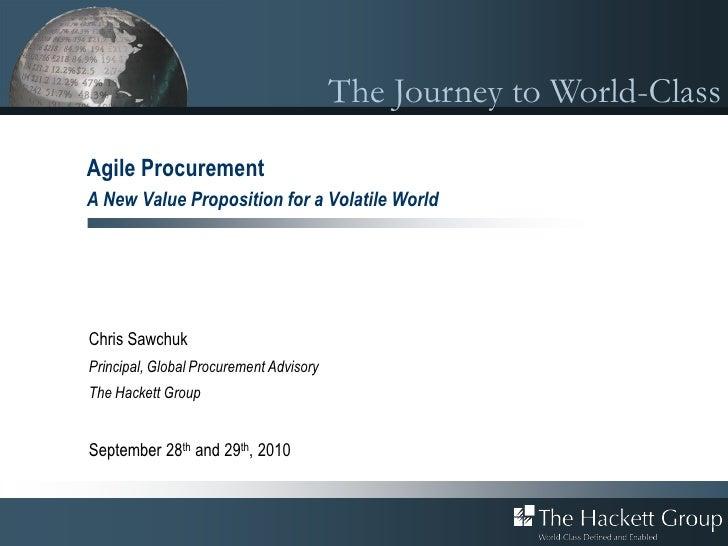 Agile Procurement: A New Value Proposition for a Volatile World