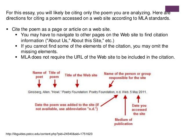 citing poetry in essay Get the facts on citing and writing in apa format with our comprehensive guide formatting instructions, sample papers, and citation examples provide you with the tools you need to style your paper in apa.