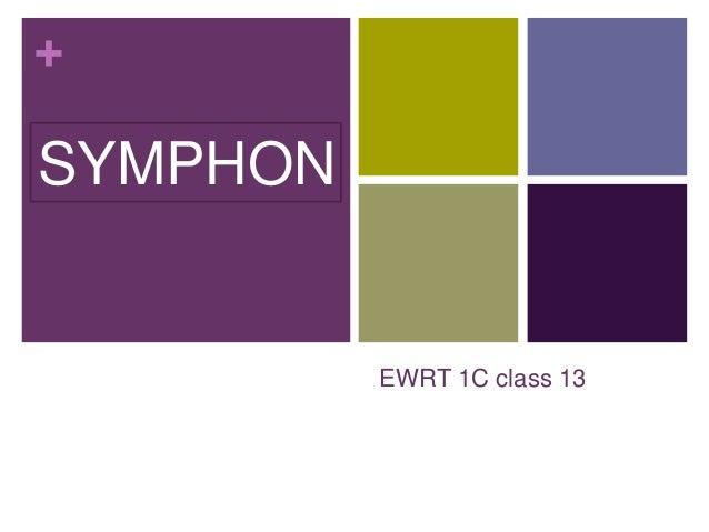 + EWRT 1C class 13 SYMPHON