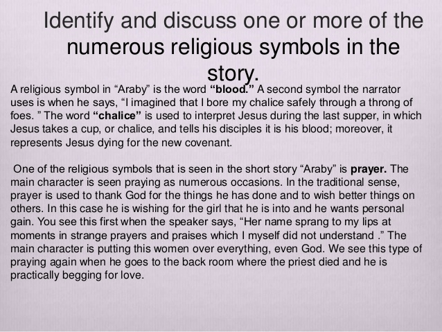 opinion essay - araby