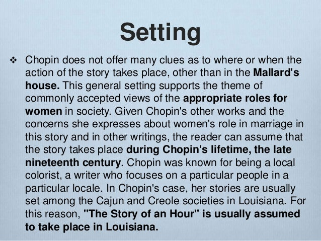 essay about the story of an hour by kate chopin