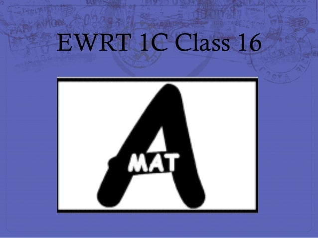 Ewrt 1 c class 16
