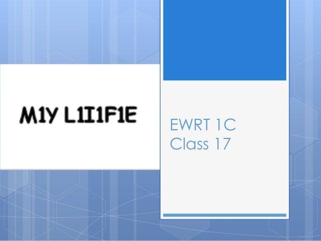 Ewrt 1 c class 18