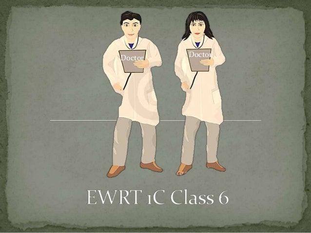 Ewrt 1 c class 6 post qhq