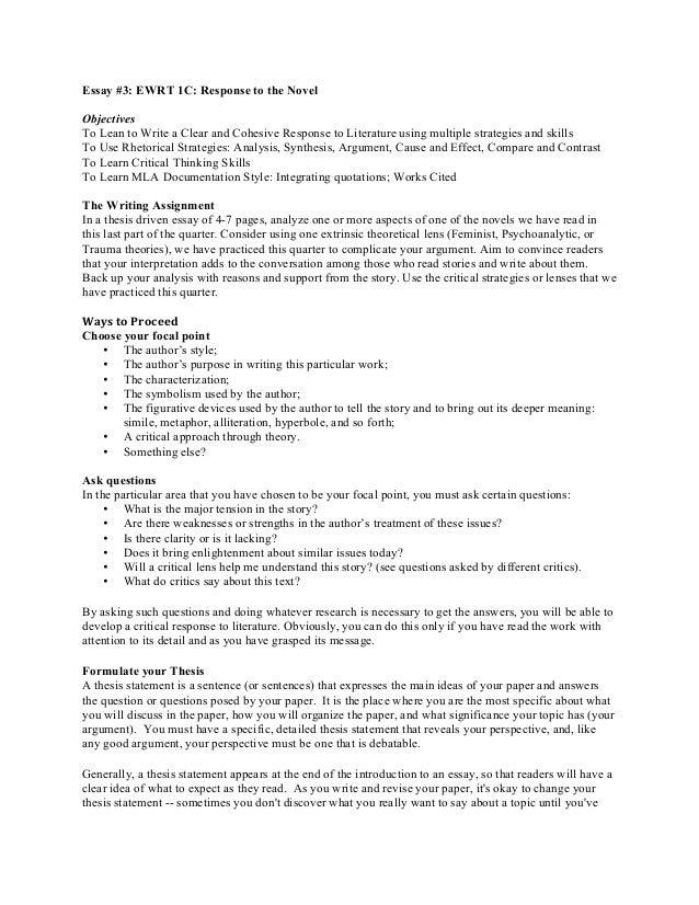response essay thesis statement