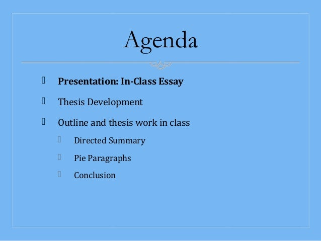How do you prep yourself for an in-class essay?