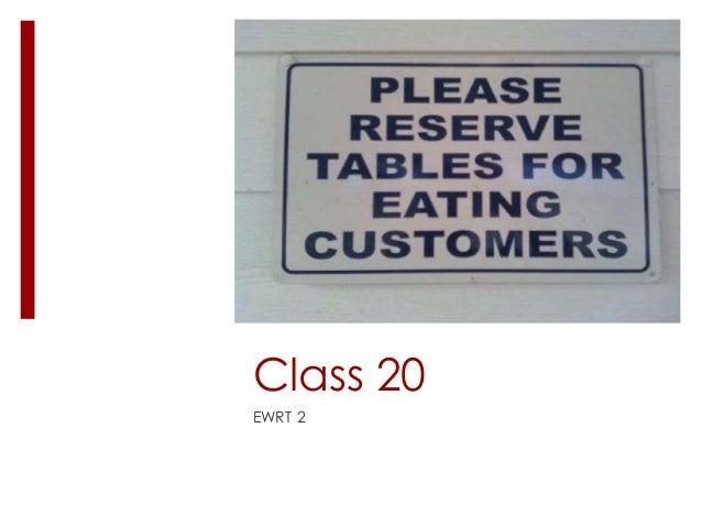 Ewrt 2 class 20
