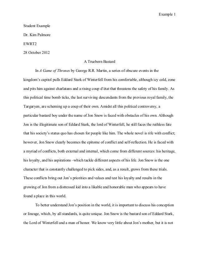Ewrt 2 essay 1 student example