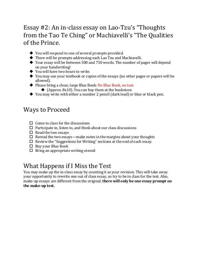 Machiavelli essays