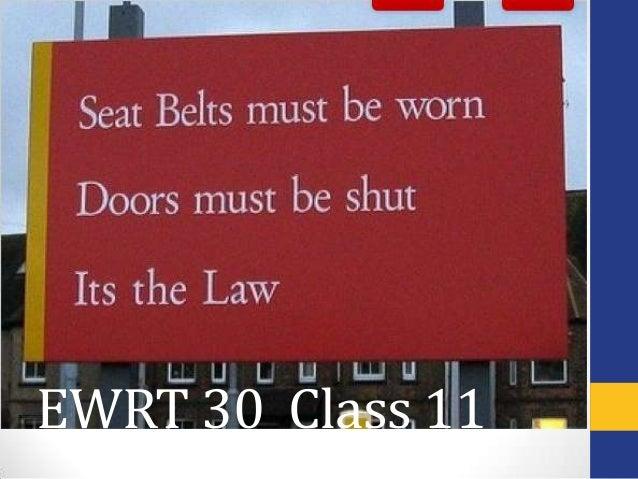 EWRT 30 Class 11
