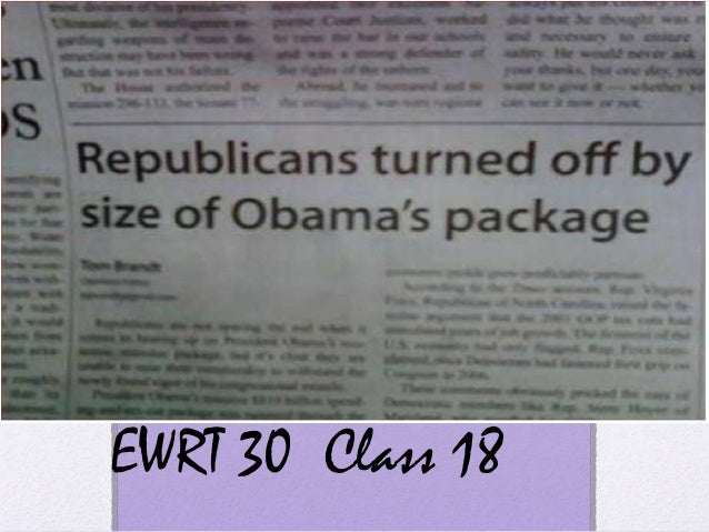 Ewrt 30 class 18