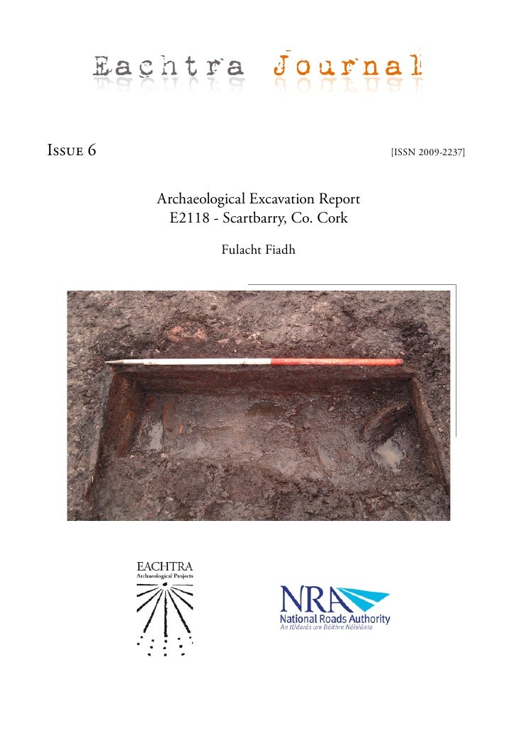 Archaeological Excavation Report E2118 Scartbarry 6, N8 RF