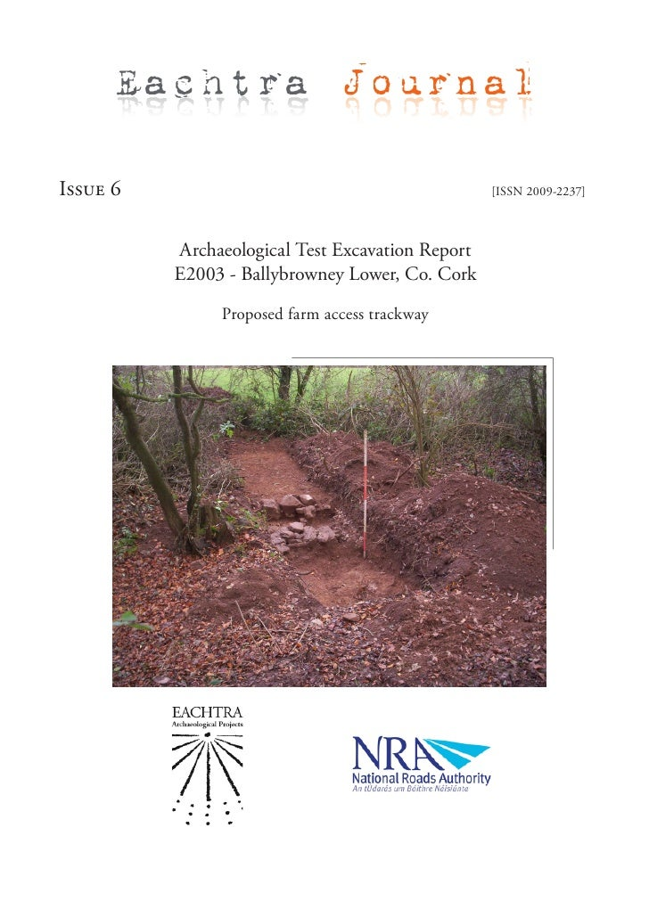 Eachtra Journal  Issue 6                                           [ISSN 2009-2237]              Archaeological Test Excav...