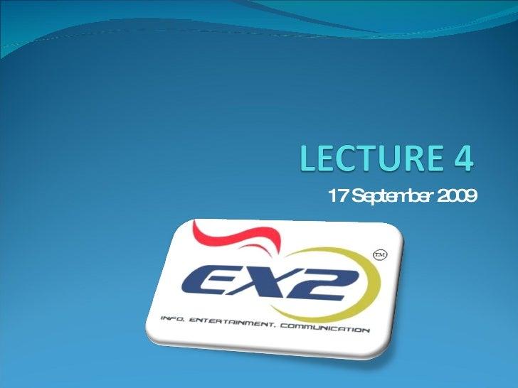 B.Com 07-11, Lecture 4