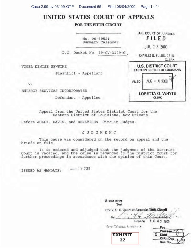 Case 2:99-cv-03109-GTP   Document 65   Filed 08/04/2000   Page 1 of 4                                         EXHIBIT     ...