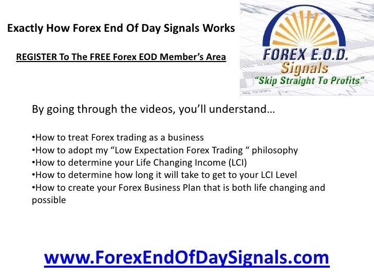 End of day forex trading signals