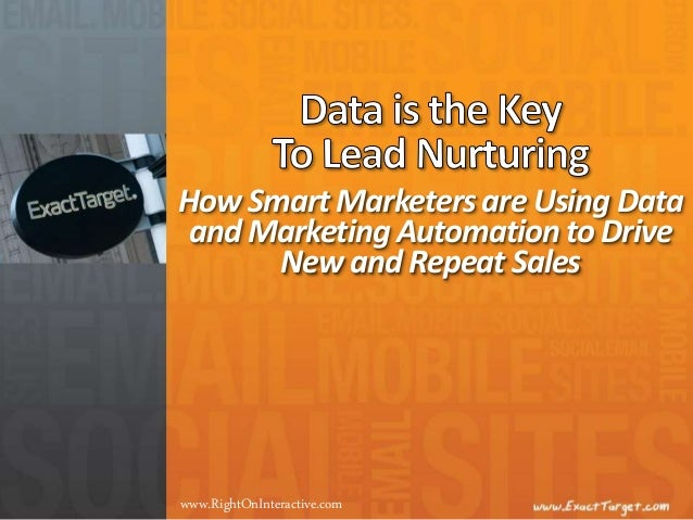 How Smart Marketers are Using Data and Marketing Automation to Drive New and Repeat Sales www.RightOnInteractive.com