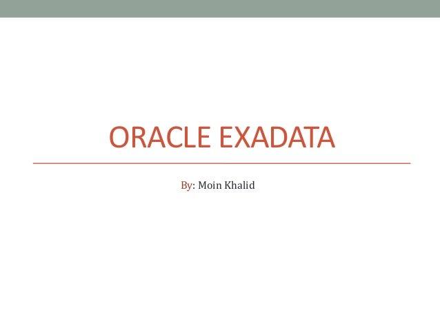 Intro to Exadata