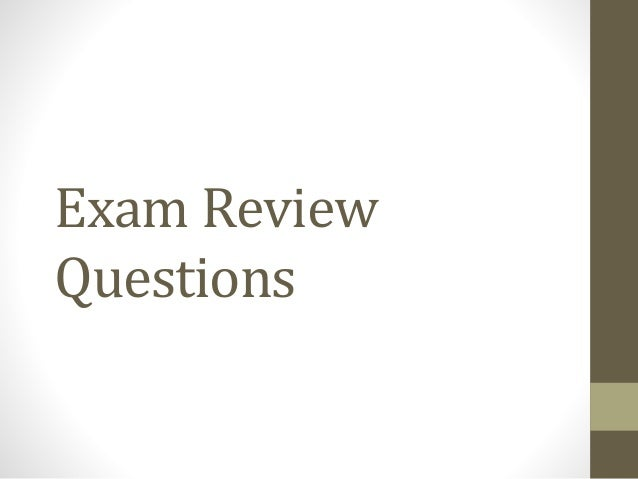 review questions for exam i Cen exam practice questions: cen practice tests & review for the certification for emergency nursing examination: 9781621200420: medicine & health science books @ amazoncom.