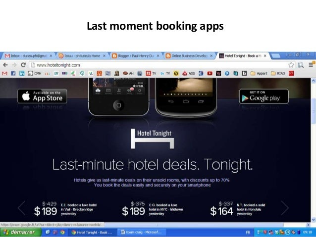 Last moment booking apps