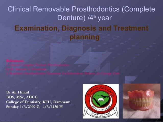 Examination, Diagnosis, Treatment Planing I