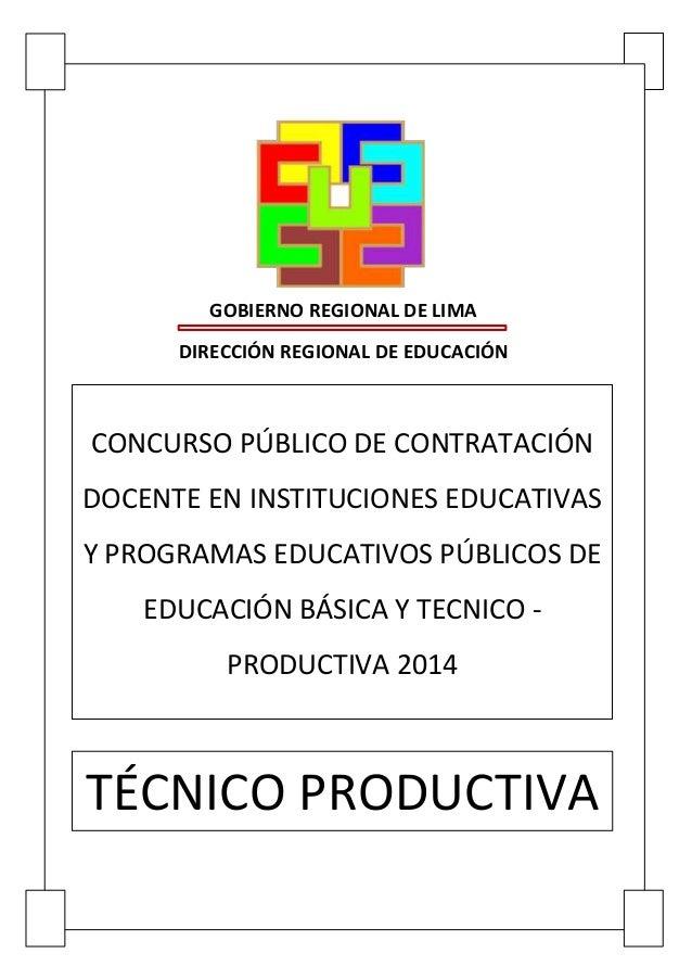Prueba Única Regional 2014 Página 1GOBIERNO REGIONAL DE ...