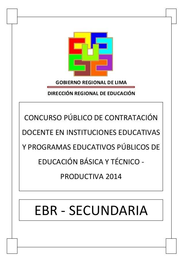 Examen de contrato docente ebr inicial 2014 share the for Prueba docente 2016