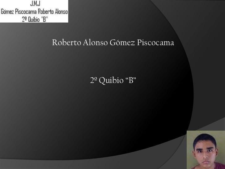 """Roberto Alonso Gómez Piscocama         2º Quibio """"B"""""""
