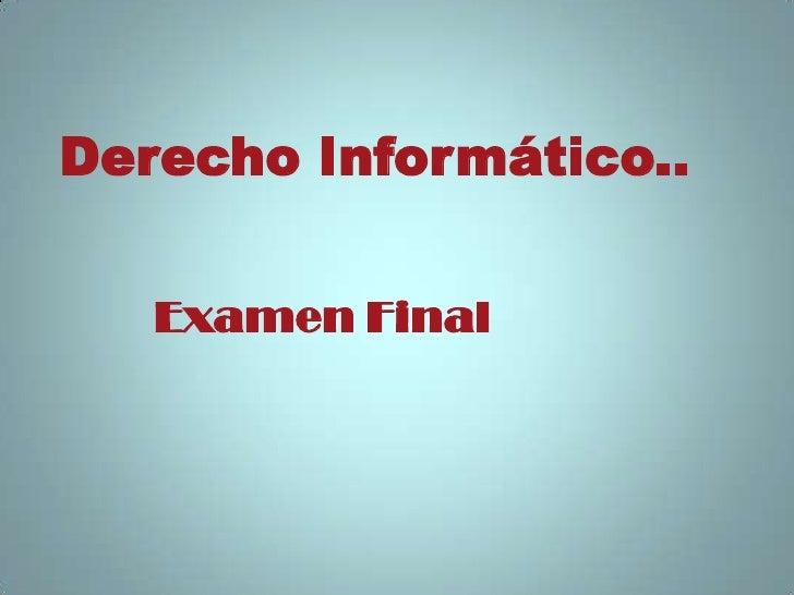Examen Final de Informatico