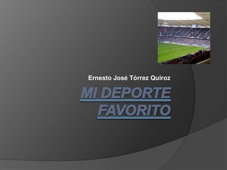 Ernesto José Tórrez Quiroz