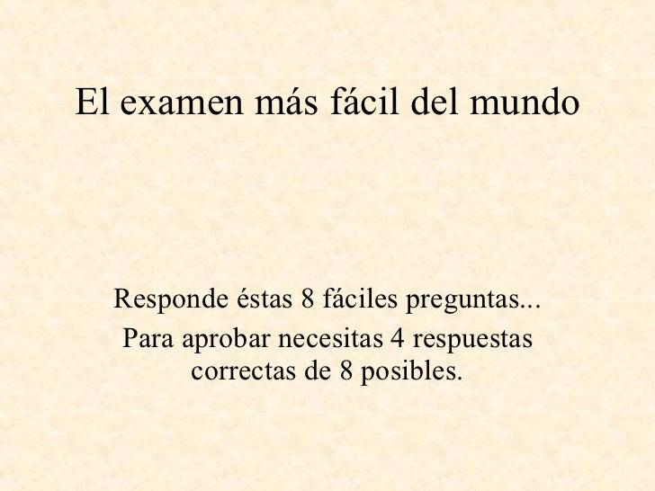 Examen fácil