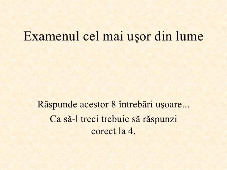 Examen  Facil