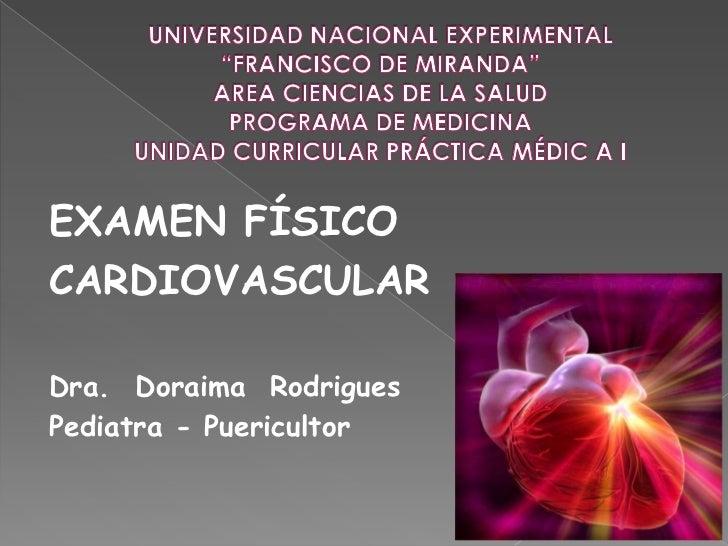 """UNIVERSIDAD NACIONAL EXPERIMENTAL """"FRANCISCO DE MIRANDA""""AREA CIENCIAS DE LA SALUDPROGRAMA DE MEDICINAUNIDAD CURRICULAR PRÁ..."""