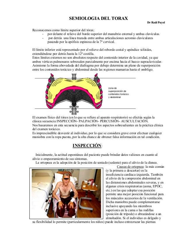 SEMIOLOGIA DEL TORAX                                                                                     Dr Raúl PuyolReco...