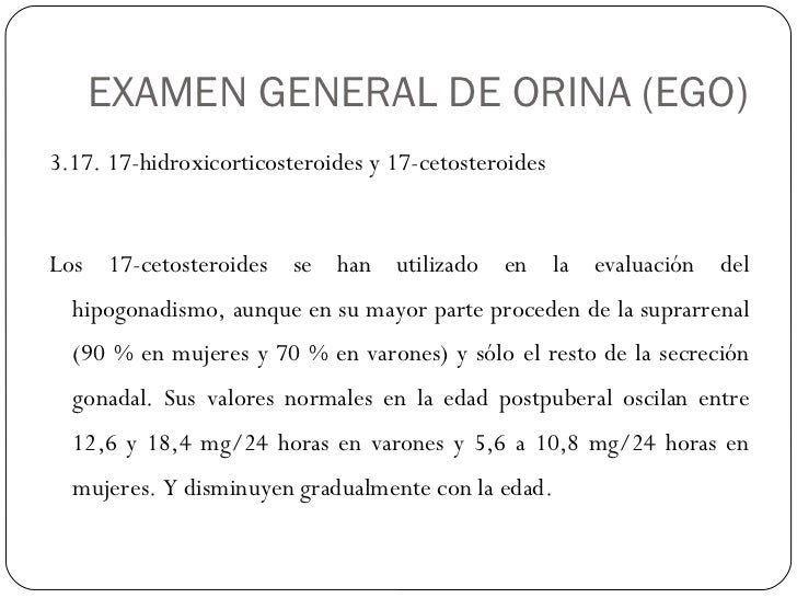 17 cetosteroides en orina de 24 horas