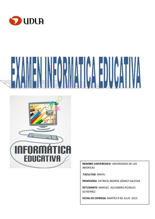 Examen informatica