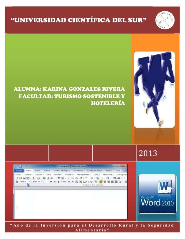 Examen parcial de word 2010