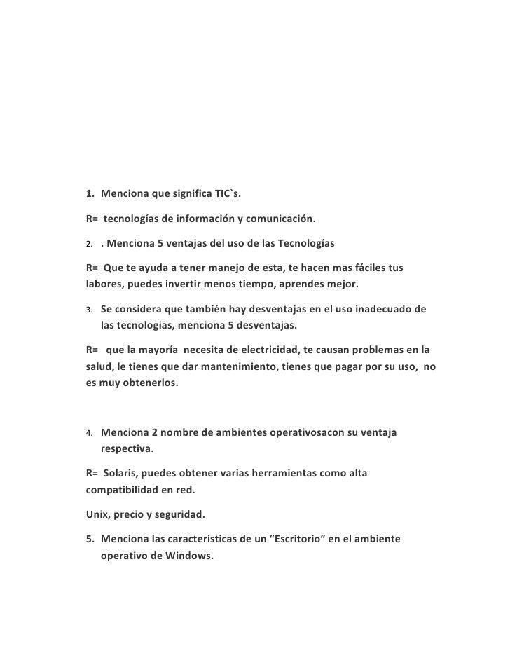 EXAMEN PARCIAL                        TECNOLOGIAS DE LA INFORMACION.                               29 de Mayo del 2009    ...