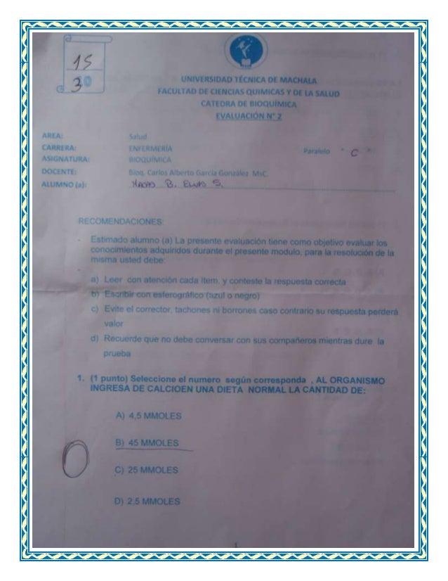 Examen quimica
