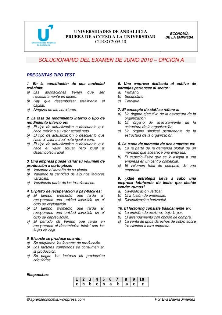 UNIVERSIDADES DE ANDALUCÍA                              ECONOMÍA                       PRUEBA DE ACCESO A LA UNIVERSIDAD  ...