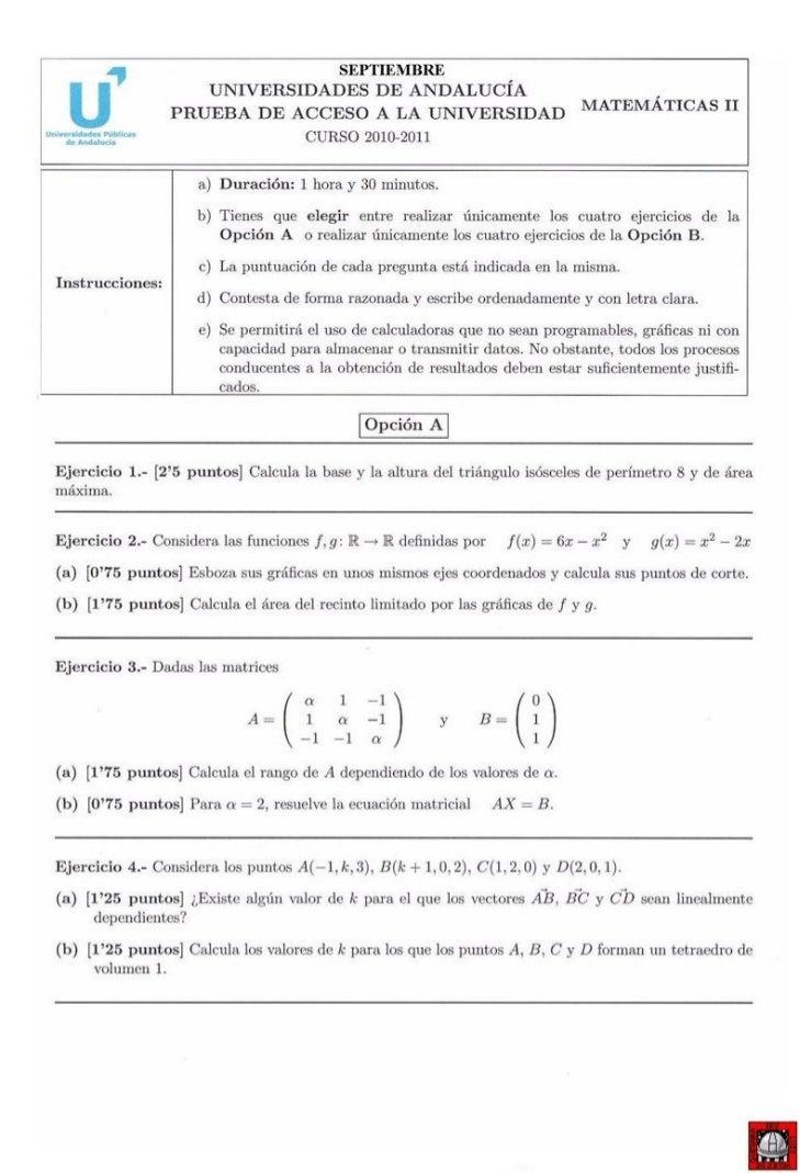 examenes selectividad quimica andalucia: