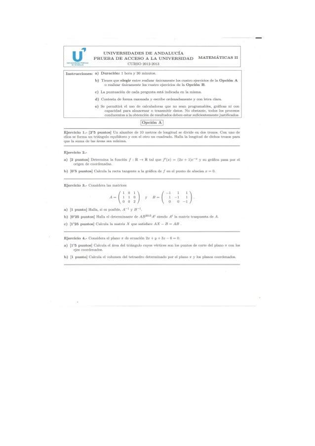 Examen selectividad septiembre 2013-andalucía-matemáticas