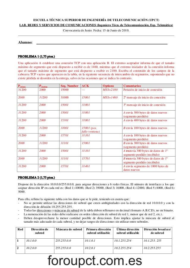 Examen RyS junio 2010 resuelto