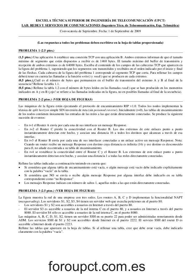 Examen RyS Septiembre 2009 resuelto