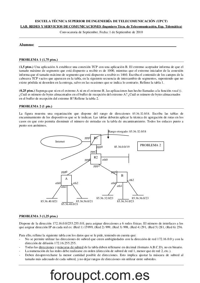 ESCUELA TÉCNICA SUPERIOR DE INGENIERÍA DE TELECOMUNICACIÓN (UPCT) LAB. REDES Y SERVICIOS DE COMUNICACIONES (Ingeniero Técn...