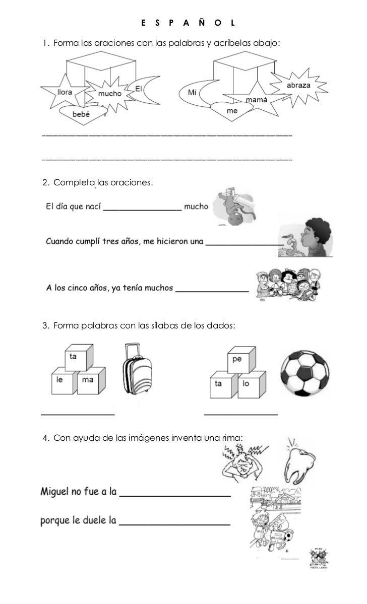 Examenes De Espanol Para Primer Grado