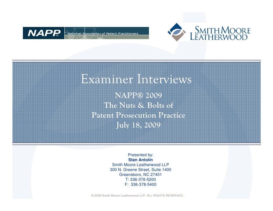 Examiner Interviews