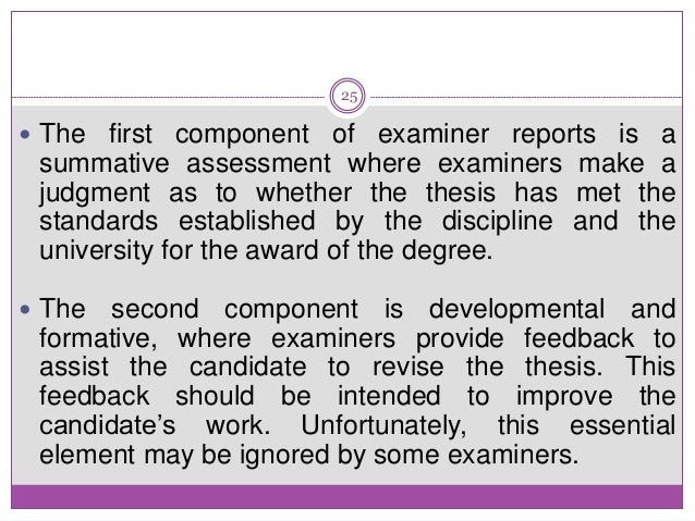 Phd thesis examiner report