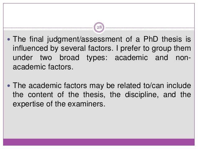 Doctoral thesis assessment report